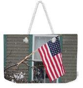 #762 D68 American Flag Winter Weekender Tote Bag