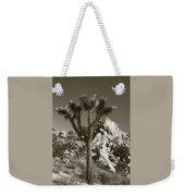 Joshua Tree National Park Landscape No 7 In Sepia Weekender Tote Bag