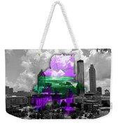 Atlanta Map And Skyline Watercolor Weekender Tote Bag