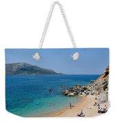 Beach In Legrena Weekender Tote Bag