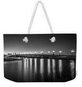 Bridge Of Lions St Augustine Florida Painted Bw Weekender Tote Bag