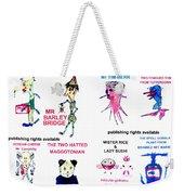 8 Super Hero,  Characters Of 35 From Wheatshire Weekender Tote Bag