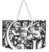 Decorative Initial G Weekender Tote Bag