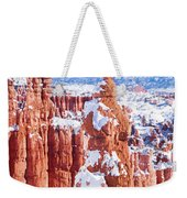 Eroded Rocks In A Canyon, Bryce Canyon Weekender Tote Bag