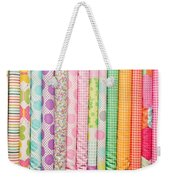 Fabric Background Weekender Tote Bag