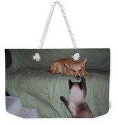 Foxy And Ninja Weekender Tote Bag