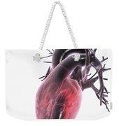 Heart Anatomy Weekender Tote Bag