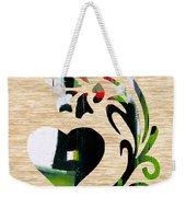 Heart And Flowers Weekender Tote Bag