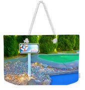 8 Hole Sign On  Golf Course Weekender Tote Bag