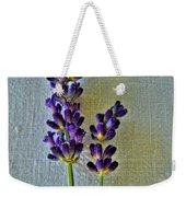 Lavender On Linen Weekender Tote Bag