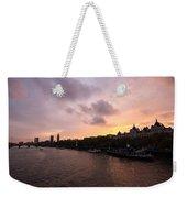 London Skyline Sunset Weekender Tote Bag