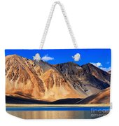 Mountains Pangong Tso Lake Leh Ladakh Jammu And Kashmir India Weekender Tote Bag
