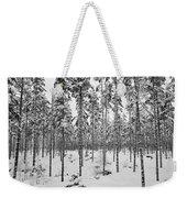 Pine Forest Winter Weekender Tote Bag