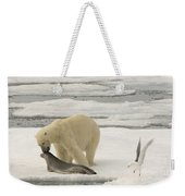 Polar Bear With Fresh Kill Weekender Tote Bag