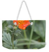 Scarlet Avens Orange Wild Flower Weekender Tote Bag