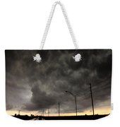 Severe Warned Nebraska Storm Cells Weekender Tote Bag