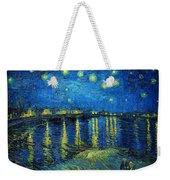 Starry Night Over The Rhone Weekender Tote Bag