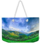 Sunrise Over Blue Ridge Mountains Scenic Overlook  Weekender Tote Bag