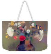 Vase Of Flowers Weekender Tote Bag by Odilon Redon