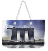 View Of The Towers Of The Marina Bay Sands In Singapore Weekender Tote Bag