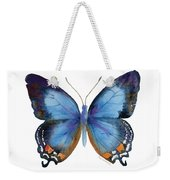 80 Imperial Blue Butterfly Weekender Tote Bag