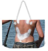 #821 D442 Beach Fairhaven Happiness Is Fishing  Weekender Tote Bag