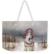 Borzoi - Russian Wolfhound Art Canvas Print Weekender Tote Bag