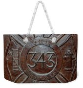 9 11 01 F D N Y 343 Weekender Tote Bag