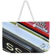 1970 Chevrolet Chevelle Ss Taillight Emblem Weekender Tote Bag