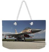 An F-16c Barak Of The Israeli Air Force Weekender Tote Bag