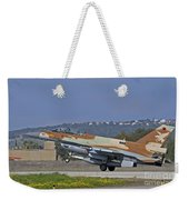 An F-16d Barak Of The Israeli Air Force Weekender Tote Bag
