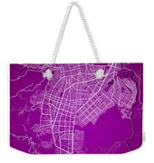 Cali Street Map - Cali Colombia Road Map Art On Colored Back Weekender Tote Bag