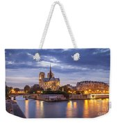 Cathedral Notre Dame Weekender Tote Bag by Brian Jannsen