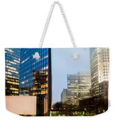 Charlotte City Skyline Night Scene Weekender Tote Bag