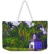 Church Located Next To A Canal Weekender Tote Bag