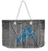 Detroit Lions Weekender Tote Bag by Joe Hamilton