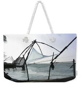 Fishing Nets On The Sea Coast In Alleppey Weekender Tote Bag