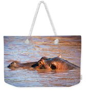 Hippopotamus In River. Serengeti. Tanzania Weekender Tote Bag