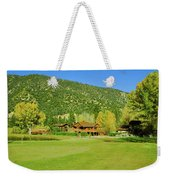 9-hole Golf Course In Autumn At Pine Weekender Tote Bag