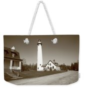 Lighthouse - Presque Isle Michigan Weekender Tote Bag