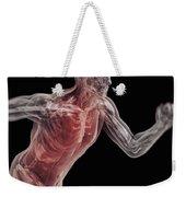 Running Male Figure Weekender Tote Bag