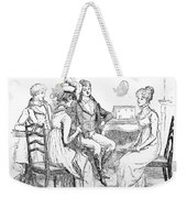 Scene From Pride And Prejudice By Jane Austen Weekender Tote Bag by Hugh Thomson