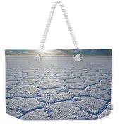 sunrise at Salar de Uyuni worlds largest salt lake Bolivia Weekender Tote Bag