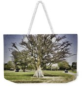 Vehicles Moving Through The American Bison Area Weekender Tote Bag