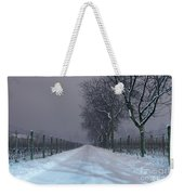 Winter Road Weekender Tote Bag