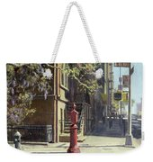 91st Street At Lexington Avenue Oil On Canvas Weekender Tote Bag