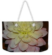 #928 D809 Dahlia Pink White Yellow Dahlia Thoughts Of You Weekender Tote Bag
