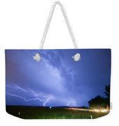 95th And Woodland Lightning Thunderstorm View Weekender Tote Bag
