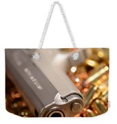 9mm Sw With Brass Weekender Tote Bag