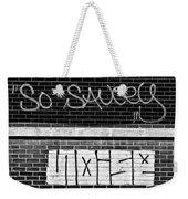 9th Ward Creativity Bw Weekender Tote Bag